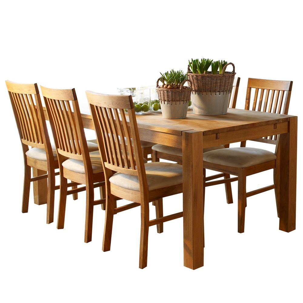 The Hannover Oak Dining Room Table And 6 Chairs For Only £599 Enchanting Oak Dining Room Table Inspiration Design