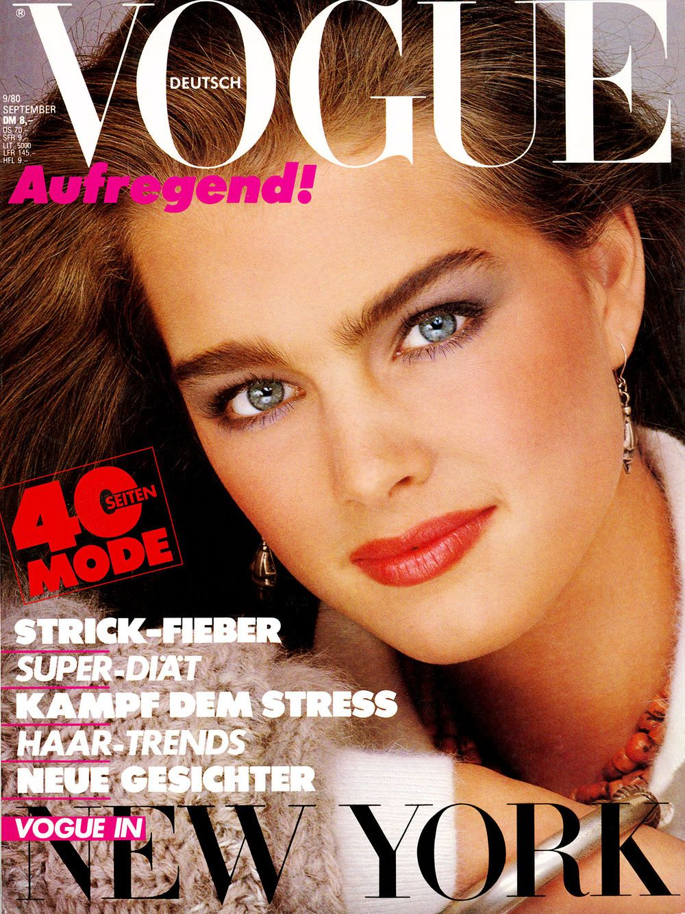 Brooke Shields Throughout the Years in Vogue