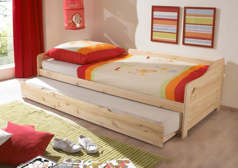 Fancy Doppelliege Kinderbett Jugendbett Babsy Kiefer Rollroste Fichte kids room kinderzimmer