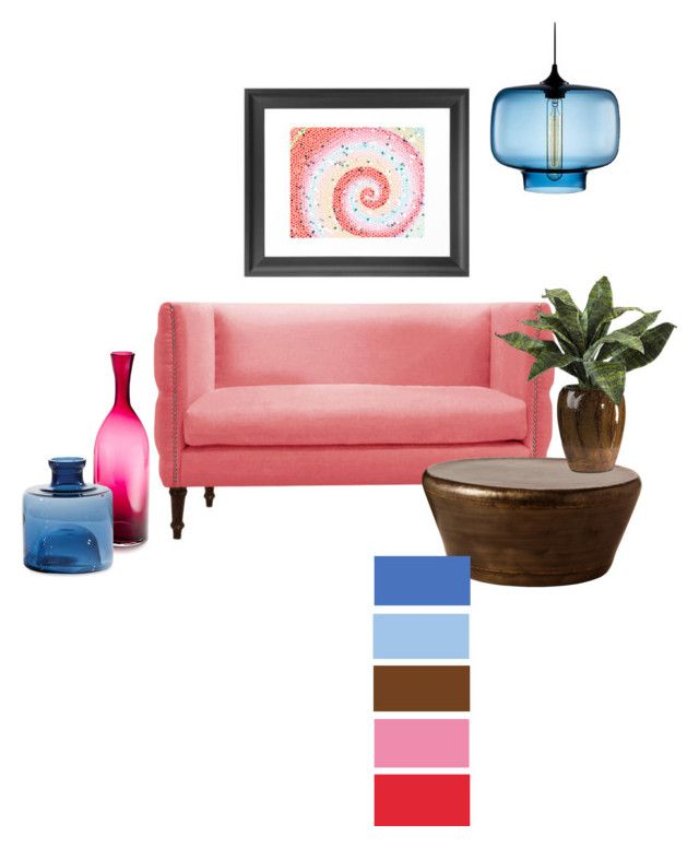 coral cyan brown by by jwp liked on polyvore featuring - Cyan Home Interior