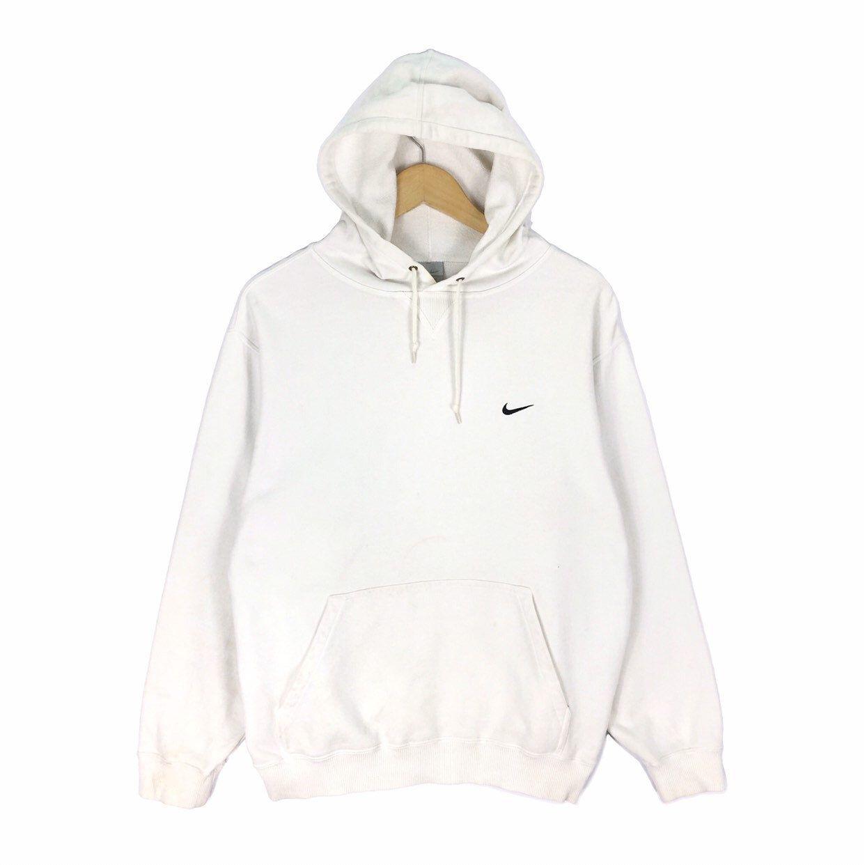 quite nice new photos arrives Vintage Nike Swoosh Small Logo Hoodie Sweatshirt Embroidery ...