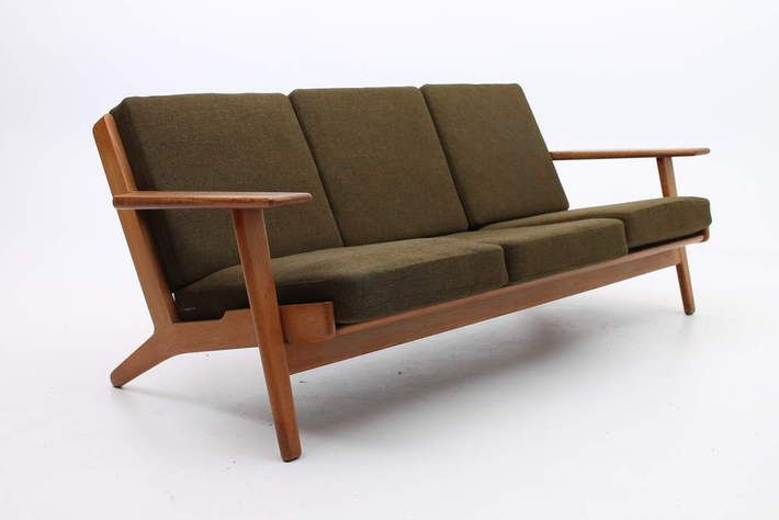 Hans Jorgen Wegner Getama Sofa Ge290 Ge 290 Oak Danish Modern Vintage Design 3seat Dk Minimal Furniture Design Wooden Sofa Set Designs Wooden Sofa
