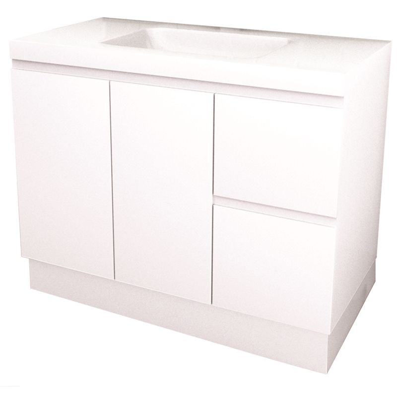 Photo Album Website Find Everhard mm Bloom White Bathroom Vanity with Right Hand Drawer at Bunnings Warehouse Visit