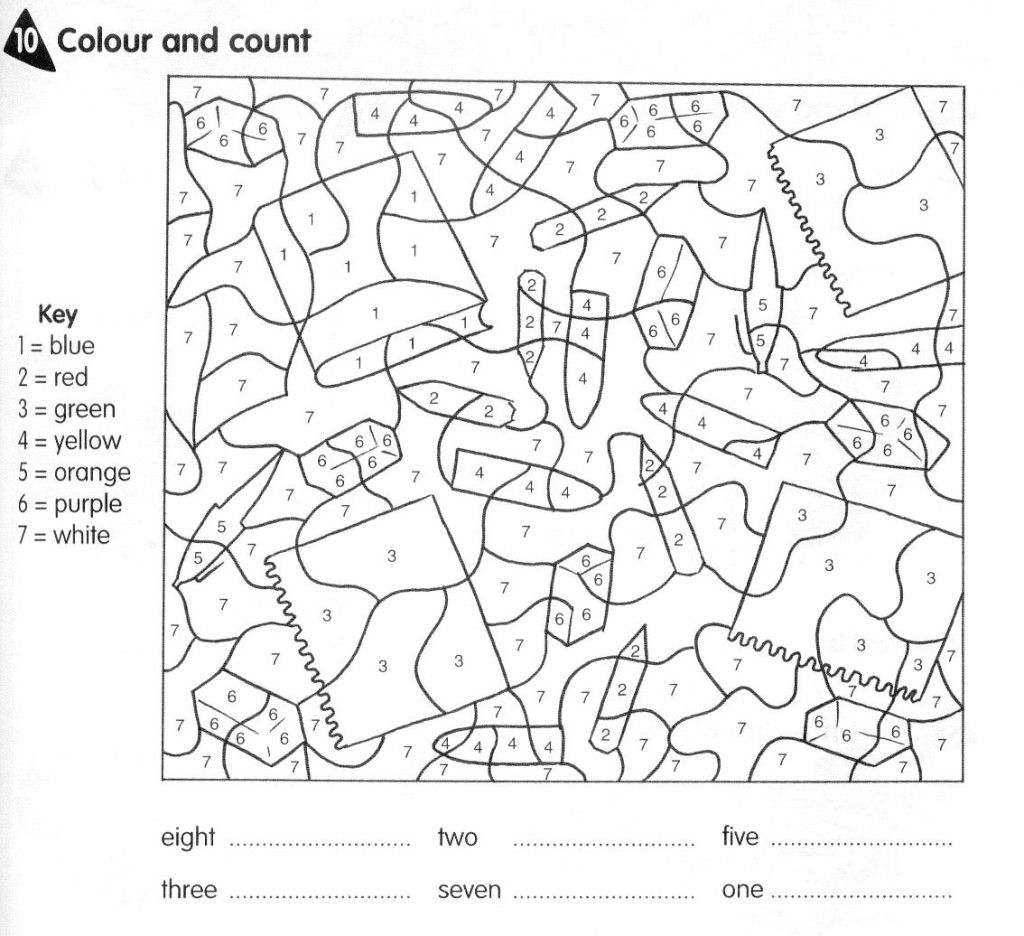 School Objects Colour By Number