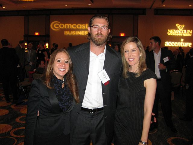 Comcastu0027s Donna Livingston (L) U0026 Erin Pinckney (R) With Jayson Werth