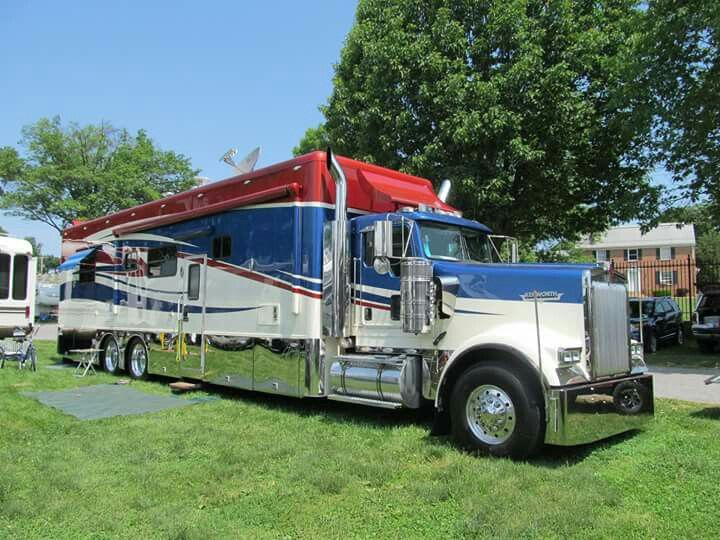 KW Conventional Motorhome | Trucks | Rv truck, Big rig