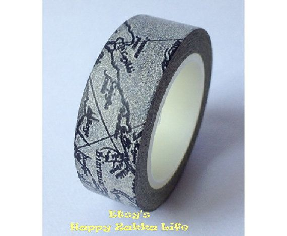 Japanese Washi Masking Tape - Vintage Navigation Map - Limited Edition - 10m (11 Yards). $4.50, via Etsy.