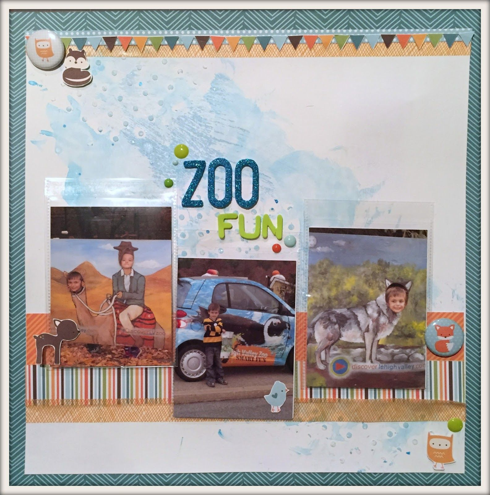 Scrapbook ideas zoo - Lynn S Everyday Ideas Zoo Fun