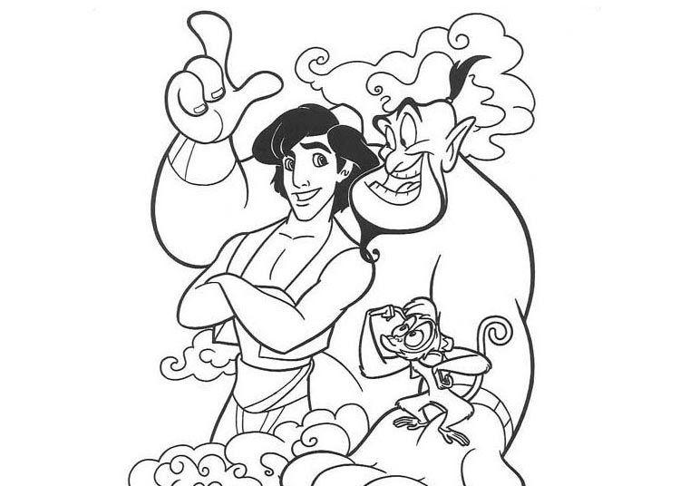 Aladdin Em 2020 Com Imagens Paginas Para Colorir Princesa