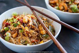 Kuchnia Azjatycka Przepisy Krewetki Z Warzywami Makaron Ryzowy