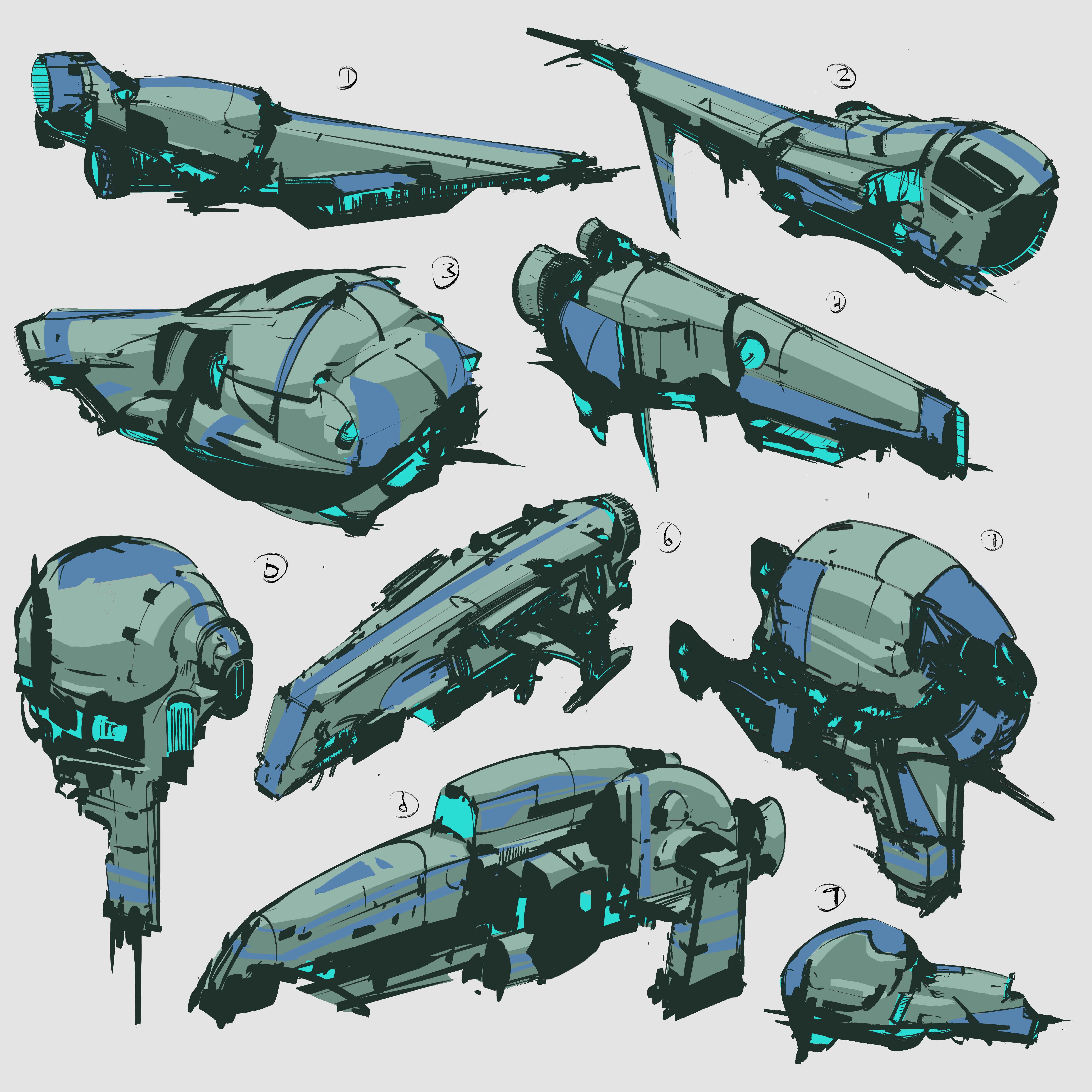 #space #spaceships #stylized #conceptart #conceptdesign #design #gameart #gameconceptart #inkdrawing #scifi #scififantasy #shapes #sketch #sketchdrawing #thumbnails #thumbnailsketches