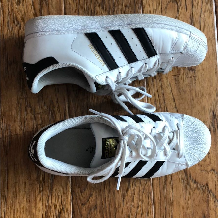 adidas superstar black and white size 8