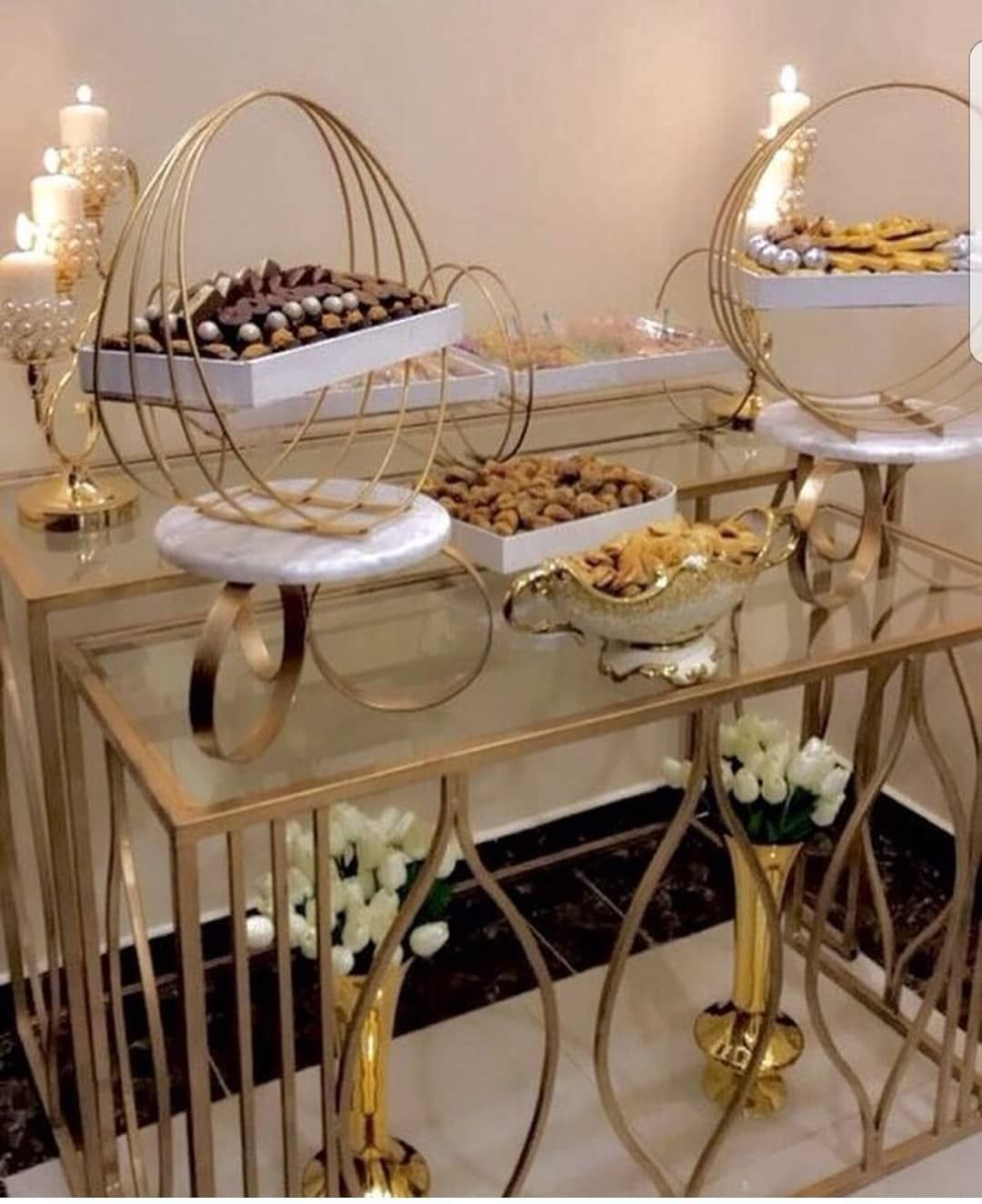 Stands Dinner Table Decor Buffet Decor Decor