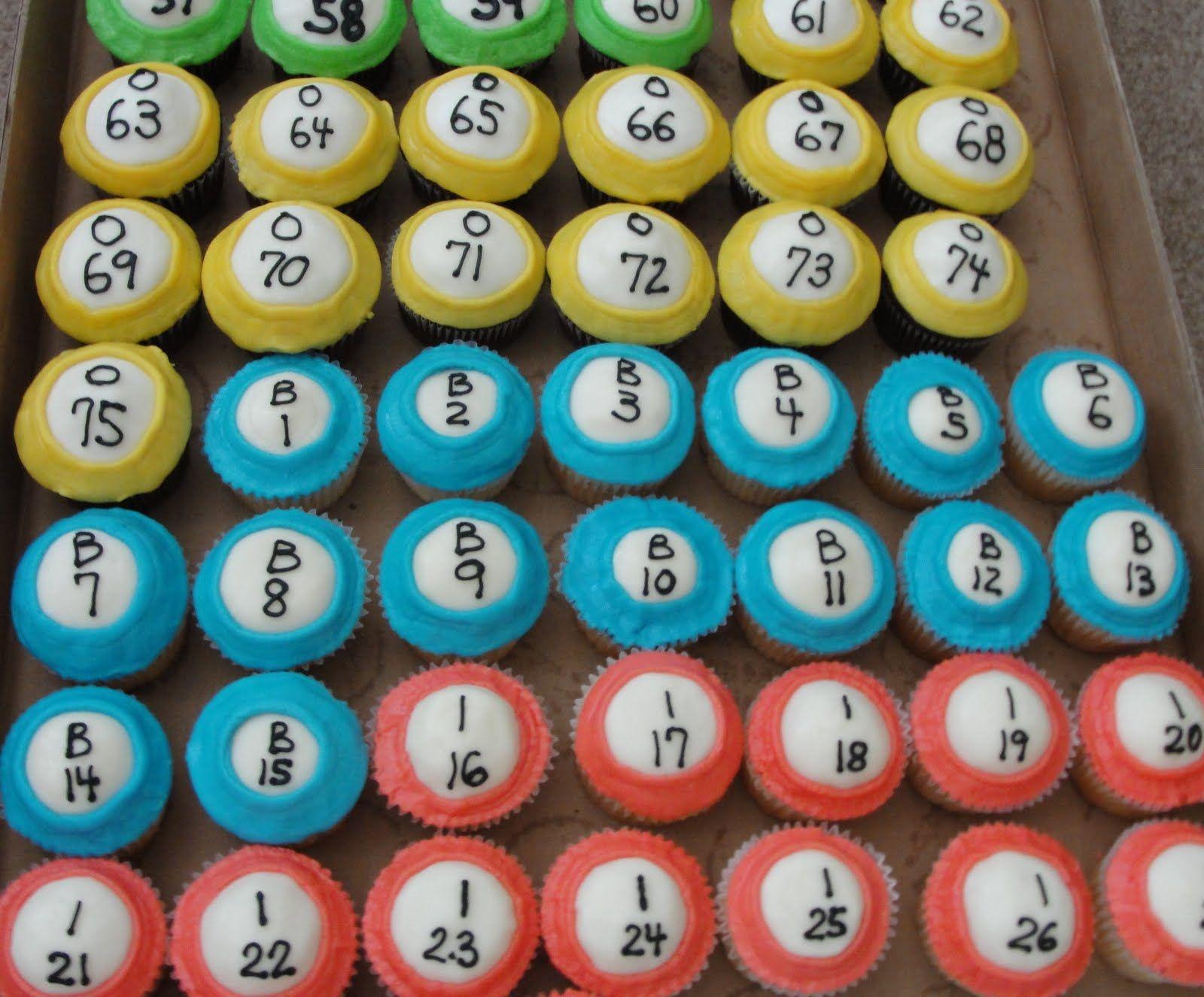 Firecracker Bakery Bingo Ball Cupcakes With Images Bingo Cake