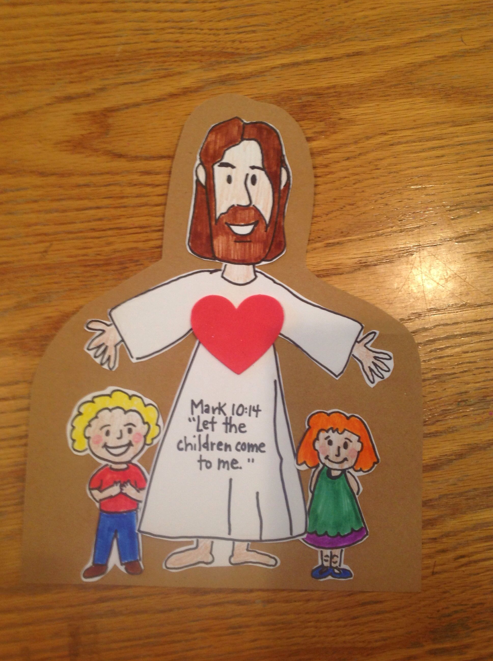 Jesus loves the little children bible craft by let bible crafts by let pinterest bible for Pinterest bible crafts
