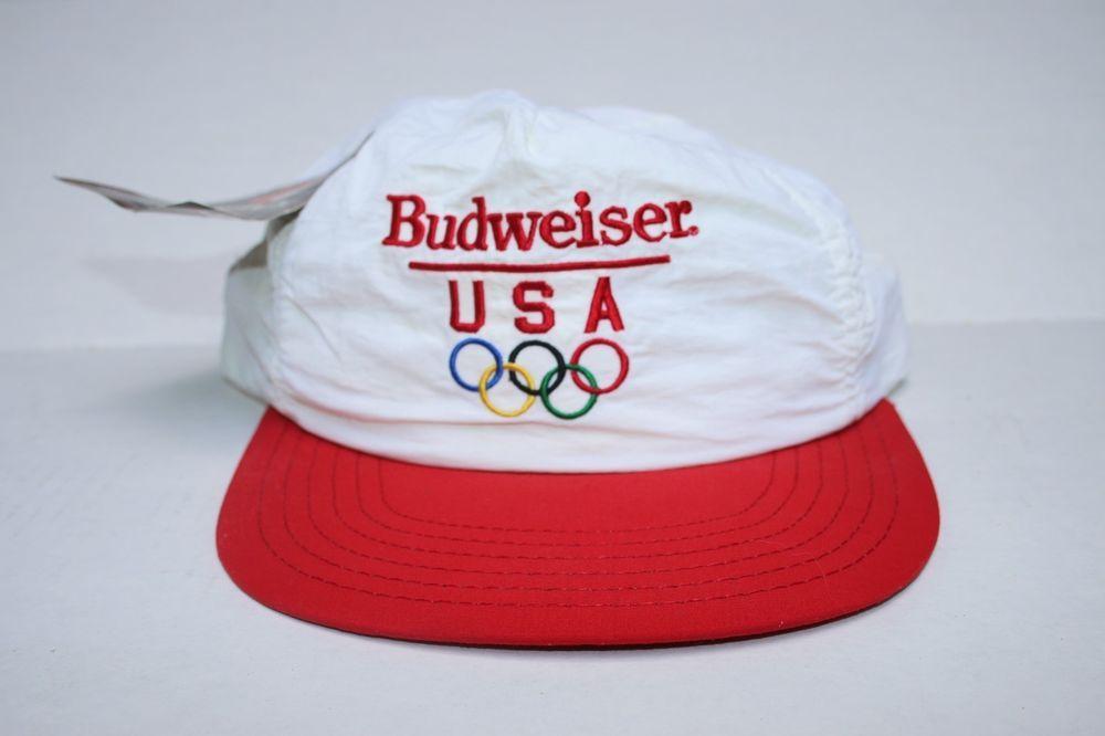 Budweiser  Olympics Supplex Snapback Hat 1996 Bud With Tags Made in USA   Unbranded feb161da7fb3