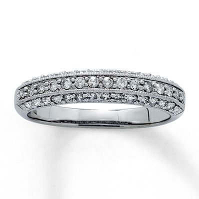 Jared Diamond Anniversary Ring 12 ct tw Roundcut 14K White Gold