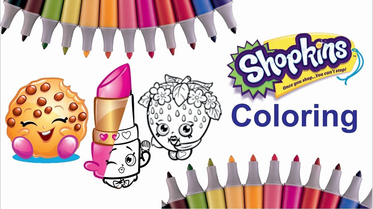 Shopkins Characters Coloring Page Part 1 Lippy Lips Strawberry