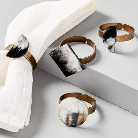 Geo Horn Napkin Rings (Set of 4) #napkinrings