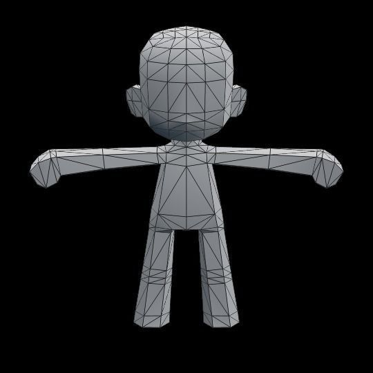 Chibi Character Template For Games 3d Model Low Poly Fbx Blend 4