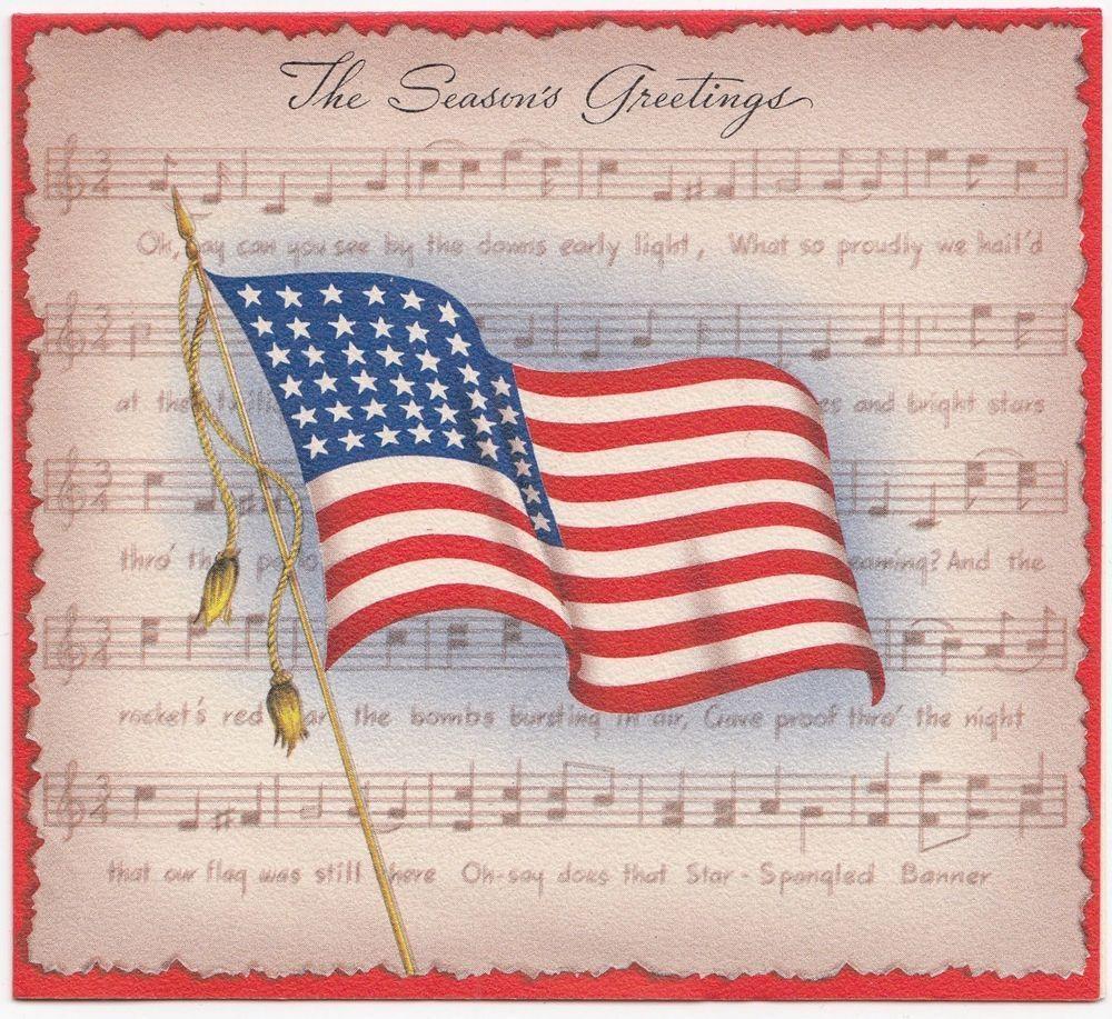 Vintage greeting card christmas patriotic american flag statue of vintage greeting card christmas patriotic american flag statue of liberty inside kristyandbryce Images