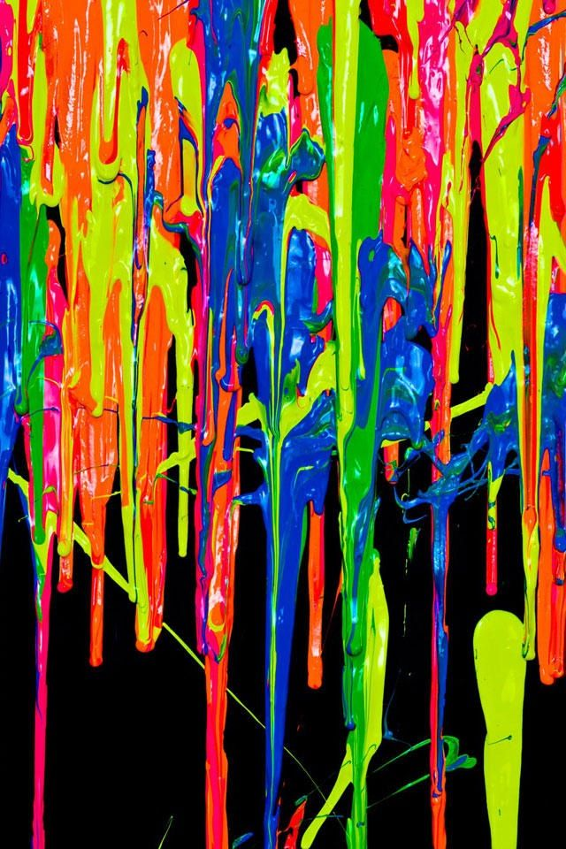 Dripping paint wallpaper Neon painting, Trippy wallpaper