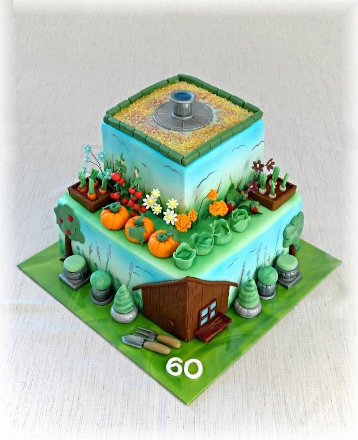 Gardeners cake by Mischell | Vegetable garden cake, Cake ...