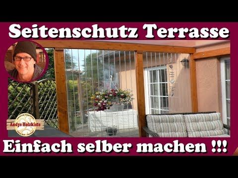 Windschutz, Wetterschutz und Sichtschutz für Terrasse selber machen - YouTube #sichtschutzfürterrasse