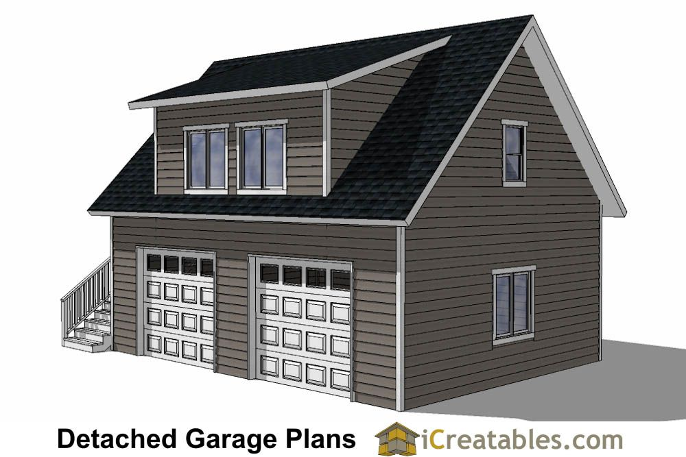 24x28 garage plans with apartment right - 536 square feet | Garage ...