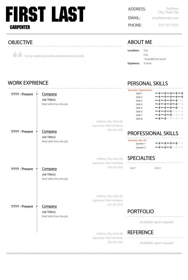 black and white curriculum vitae template and cover letter