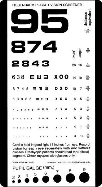Rosenbaum pocket eye chart also vision sight improvement rh pinterest