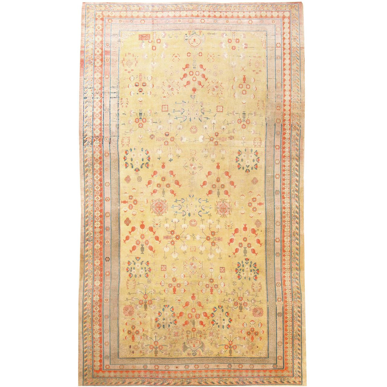 Breathtaking Rare Oversize Antique Khotan Rug 50200 Asian Rugs Rugs On Carpet Rugs