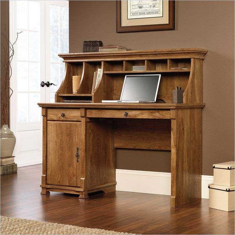 info linkbusiness hutch corner w with desk sauder finish computer carolina oak