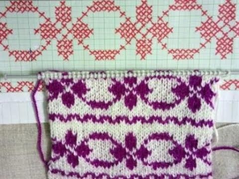 Easy Two Color Knitting Pattern No.78 with Graph | Knitting patterns ...