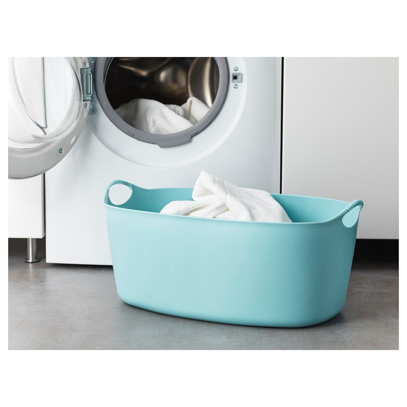 Torkis Flexible Laundry Basket In Outdoor Blue 9 Gallon