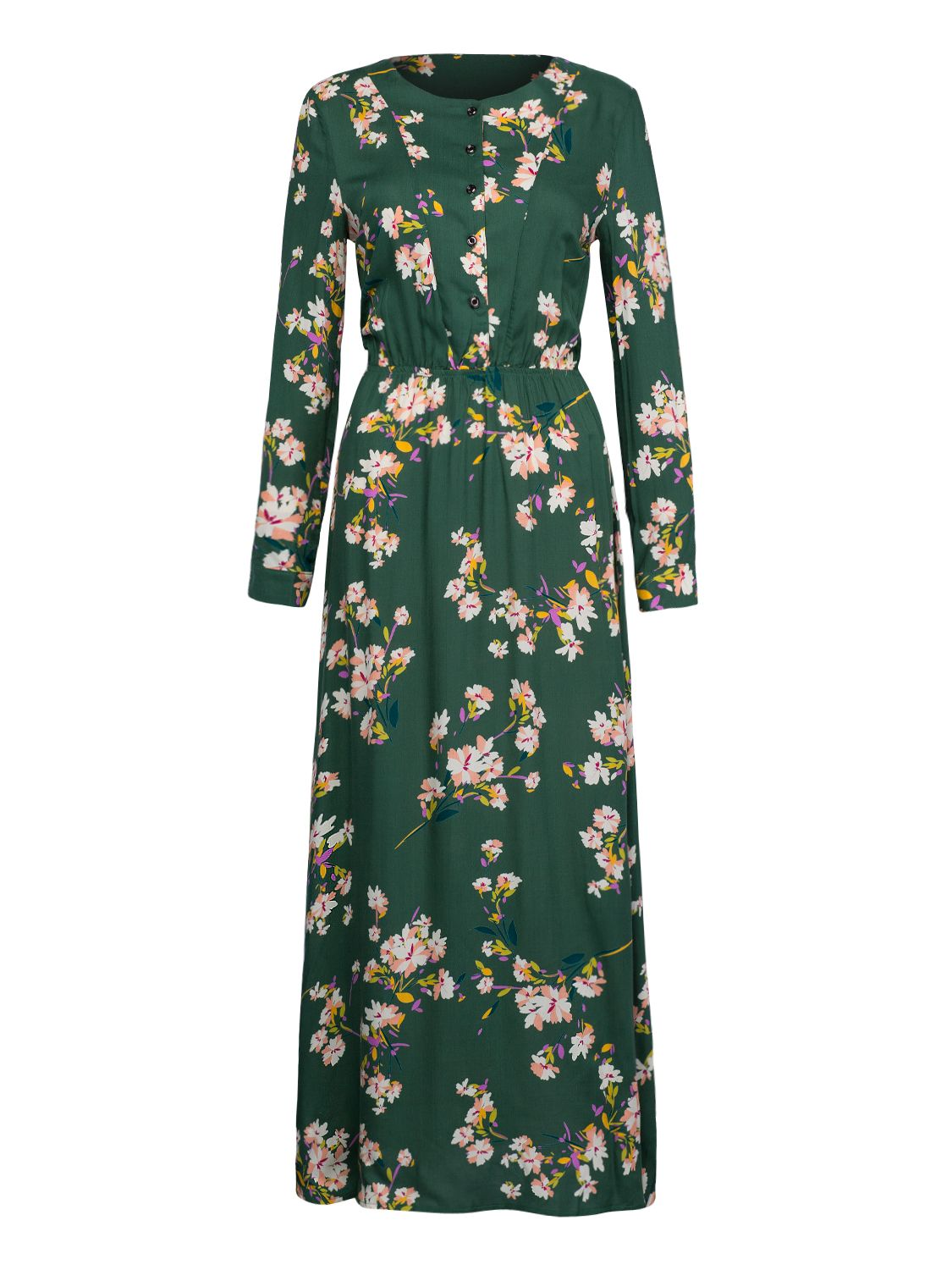 Green floral print buttoned front maxi dress maxi dresses floral