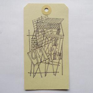 postal tag illustration.
