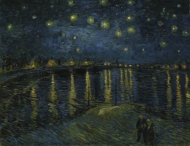 """Starry Night Over the Rhone"" Vincent van Gogh"