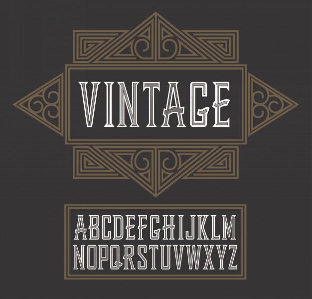 Vintage Label Font, Modern Style Whiskey Vintage labels