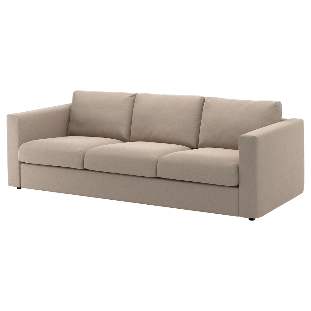 Ikea Vimle Sofa Tallmyra Beige This Soft And Cozy Sofa Will Have A Long Life As The Seat Cushions Are Filled With Hig In 2020 Ikea Vimle Ikea Sofa Ikea Vimle Sofa