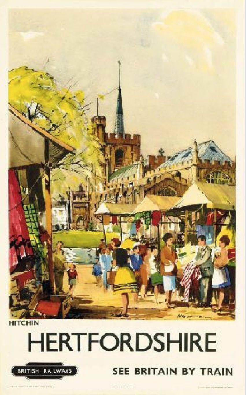 Vintage British Rail Aldbury Hertfordshire  Poster A3 Print