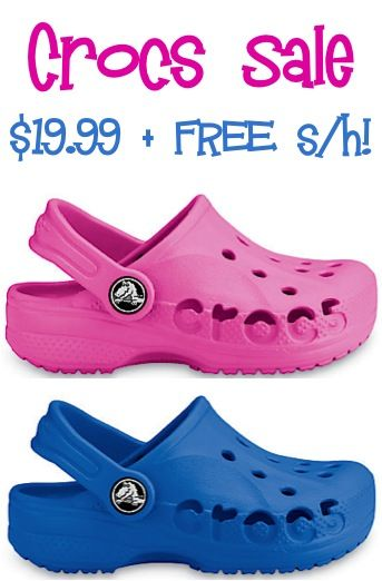 25b816e0b8 Crocs Sale: $19.99 + FREE Shipping! | Baby Ideas | Crocs, Crocs ...