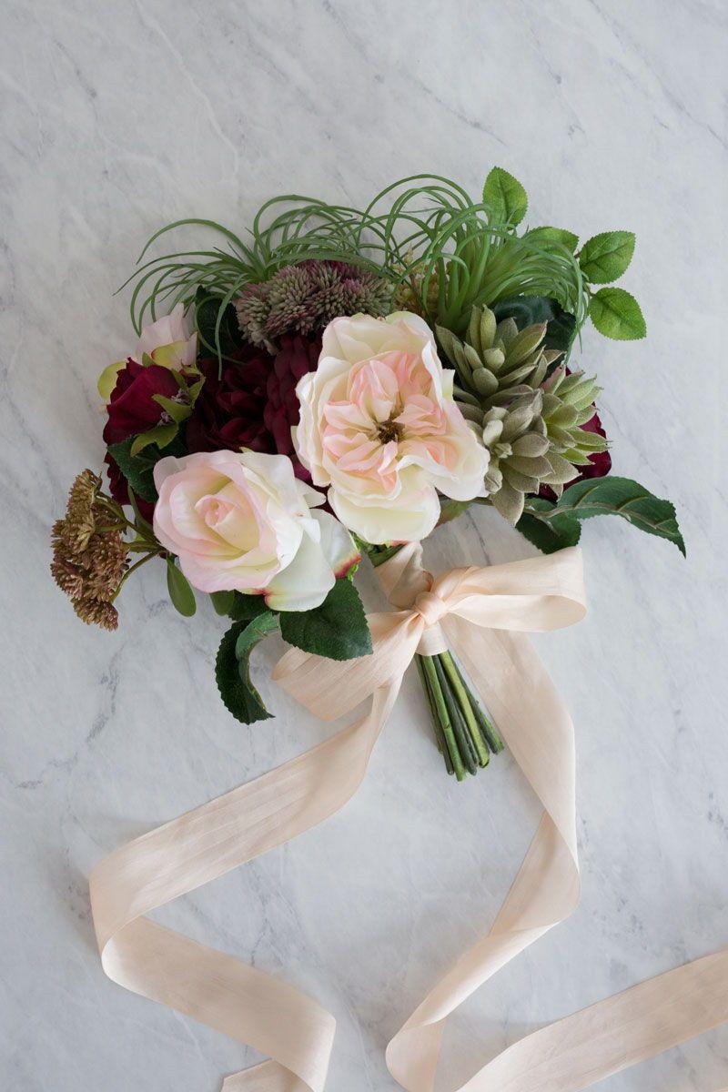 How To Create A Succulent Bouquet Succulent bouquet, Diy