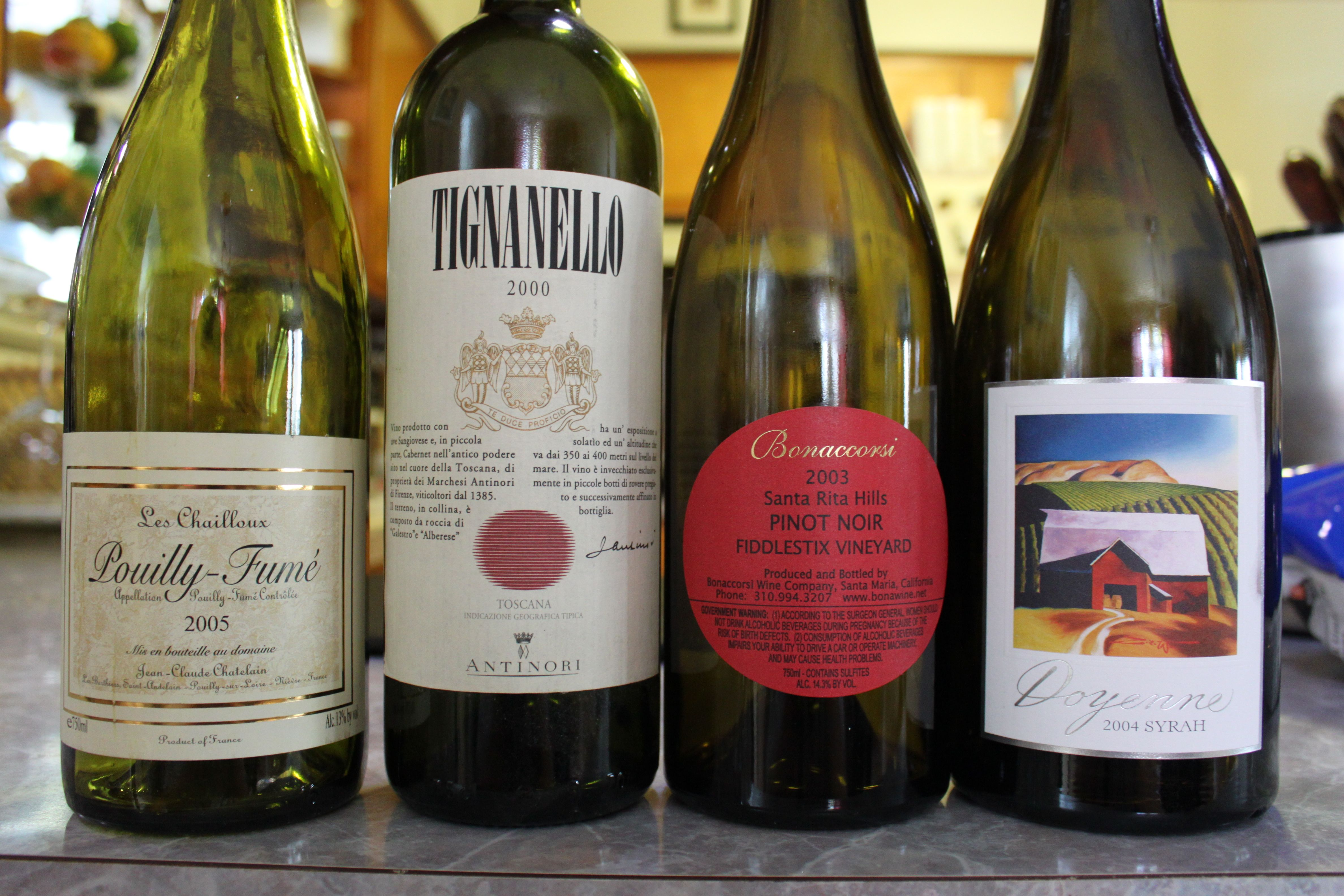 Random Wed Night Line Up Syrah Wine Bottle Pinot Noir