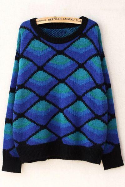 Fireside Rhombus Graphic Sweater OASAP.com
