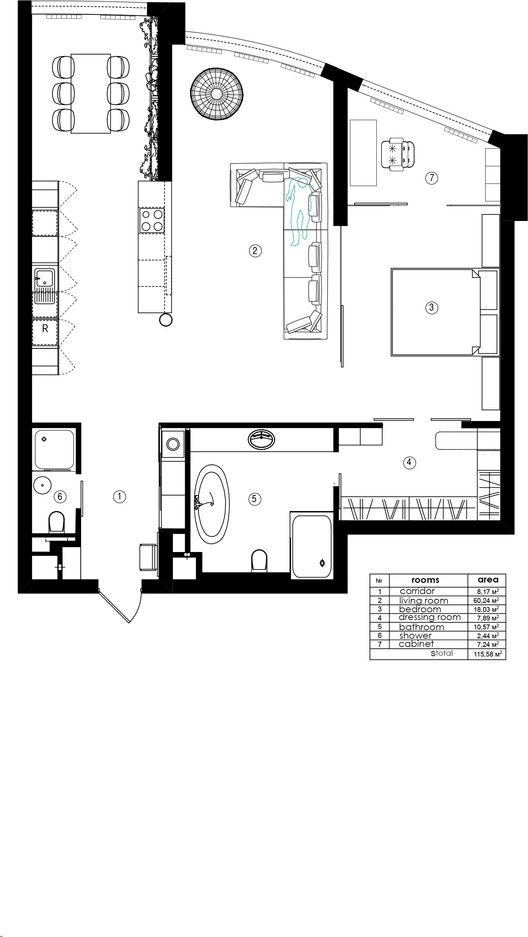 Loft In Kyiv Martinarchitects Simple Ranch House Plans Garage House Plans Floor Plans