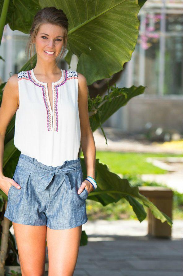 gilt   gossamer - High Waisted Chambray Shorts, $34.00 (http://www.giltandgossamer.com/high-waisted-chambray-shorts/)