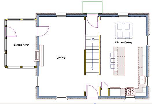 Colonial Open Floor Plan Trend