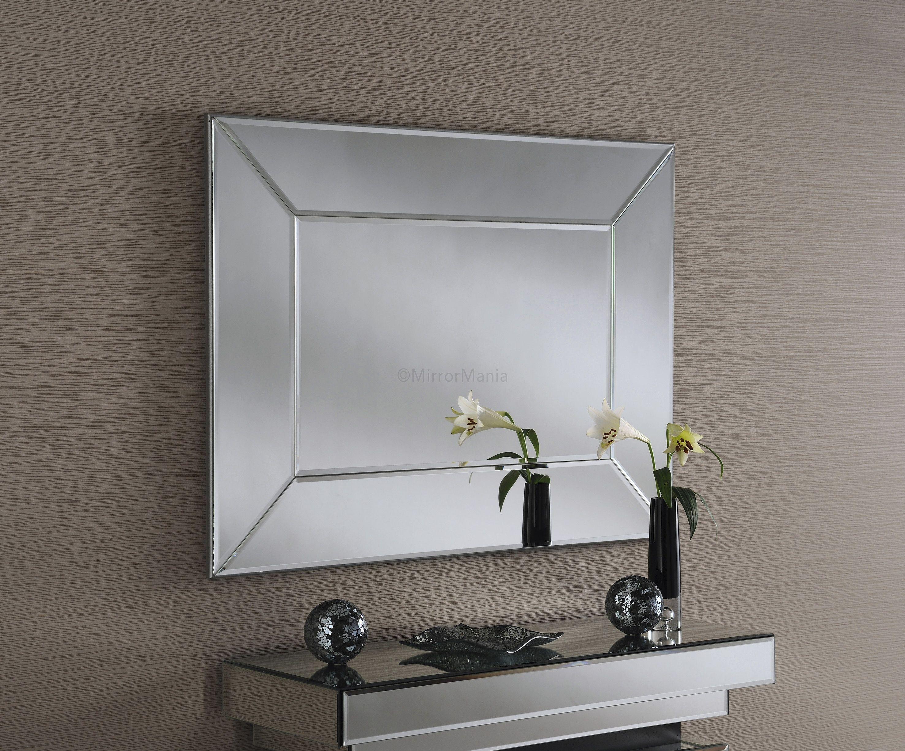 Dillon Handmade Modern Bevelled Wall Mirror | Inspiration: Hallways ...