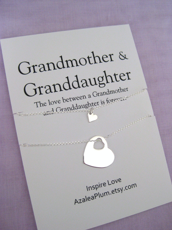 Grandma Gift Solid Sterling Silver Necklace Grandma